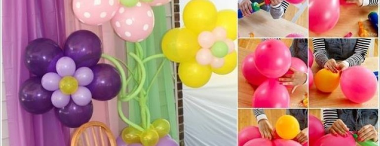 Make Beautiful DIY Balloon Flower Decoration