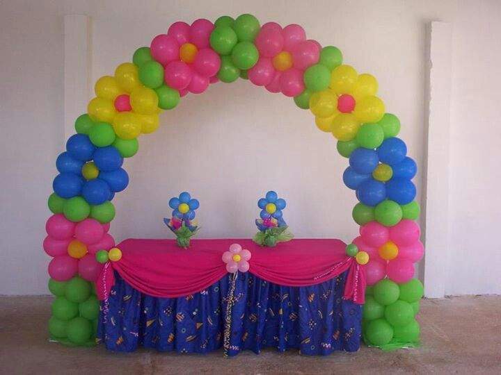 Make beautiful diy balloon flower decoration for Balloon decoration color combinations
