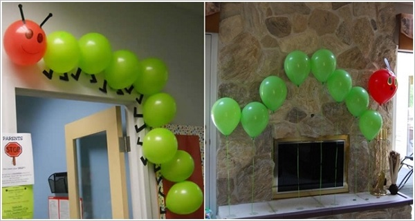 Make Beautiful DIY Balloon Flower Decoration4