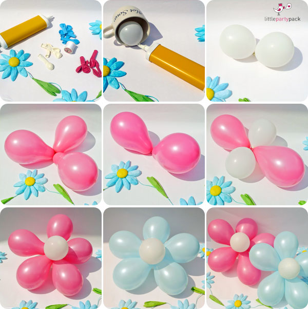 Make Beautiful DIY Balloon Flower Decoration5