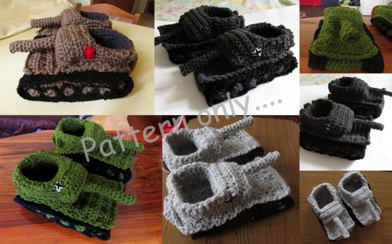 Super Cool Crochet Tank Slippers