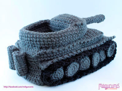 Super Cool Crochet Tank Slippers1