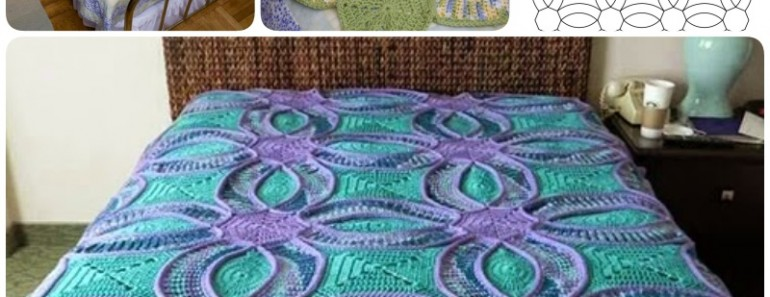 Wedding Ring Crochet Quilt Free Pattern Beesdiy