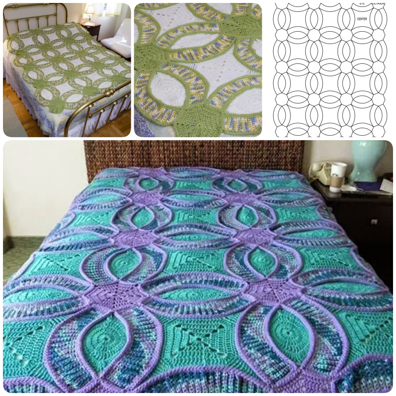 Wedding Ring Crochet Quilt FREE Pattern BeesDIYcom