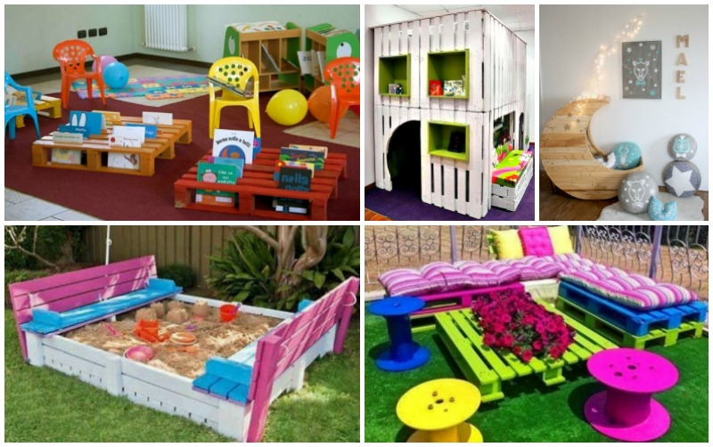 10 Incredibly Useful DIY Pallet Furniture Projects for Kids -beesdiy