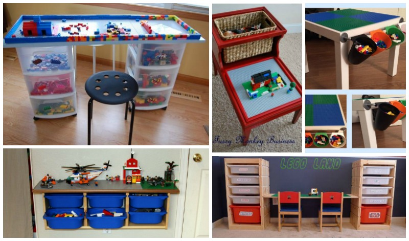 8 Awesome DIY Lego Tables for Kids | BeesDIY.com