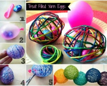 DIY Easter Egg Treats Using Balloon and String