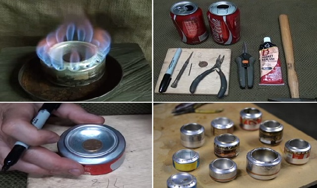 DIY Soda Can Stove for Camping