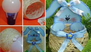 DIY String Easter Basket