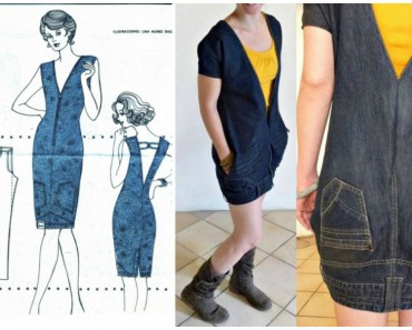 DIY Upside Down Jeans Dress