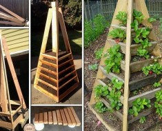 DIY Vertical Garden Pyramid Planter