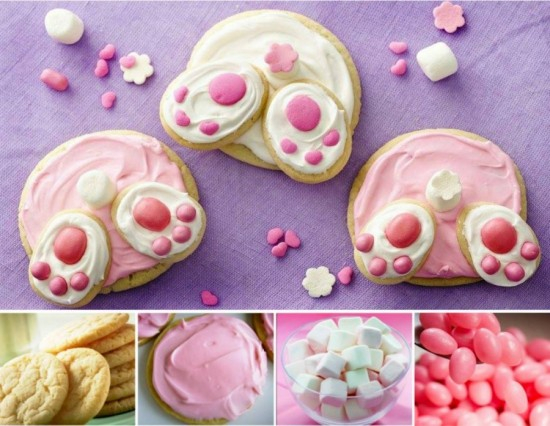 Delicious Easter Treats and Desserts -bunny butt cookies