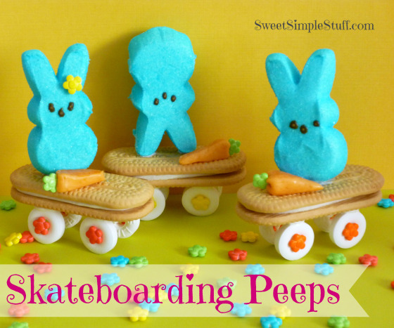 Delicious Easter Treats and Desserts13- Peeps on skateboard