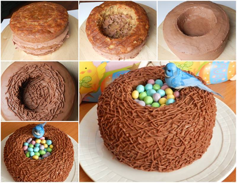 Delicious Easter Treats and Desserts15- bird nest cake