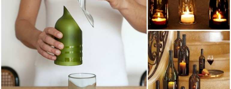 Cut Wine Bottle Using House Items Easily