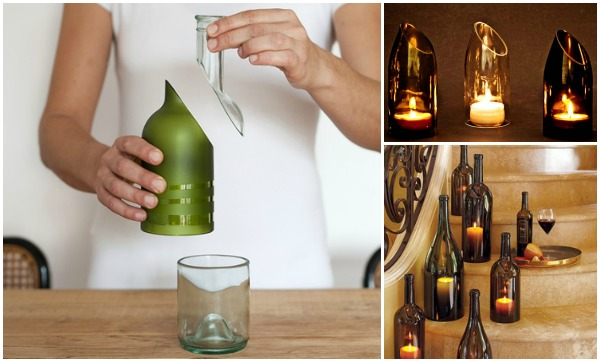 Cut wine bottle using house items easily for Cutting glass bottles with string