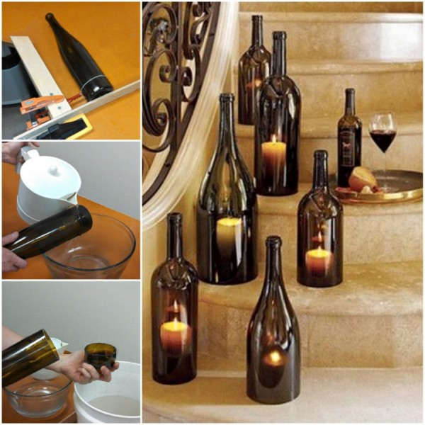 How to Cut Wine Bottle using House Items2