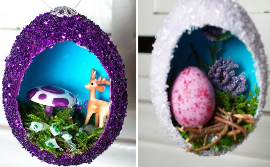 Make Stunning DIY Vintage Egg Ornaments- beesdiy