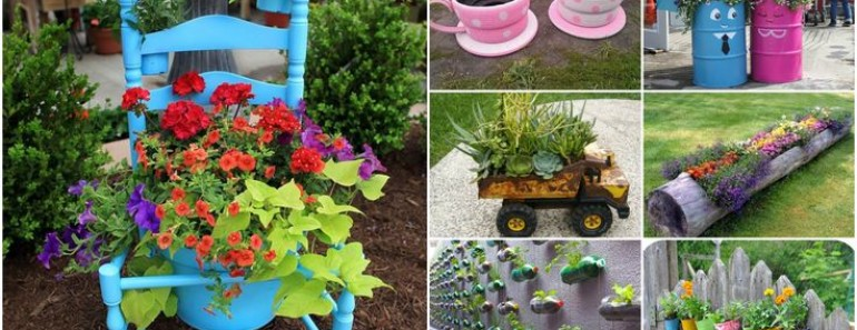 Top 15 Low-Budget Upcycled DIY Garden Planters
