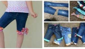 Upcycle Old Jeans into Cute Shorts Tutorials-beesdiy