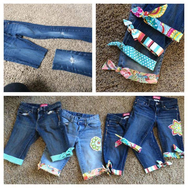 Upcycle Old Jeans into Cute Shorts Tutorials