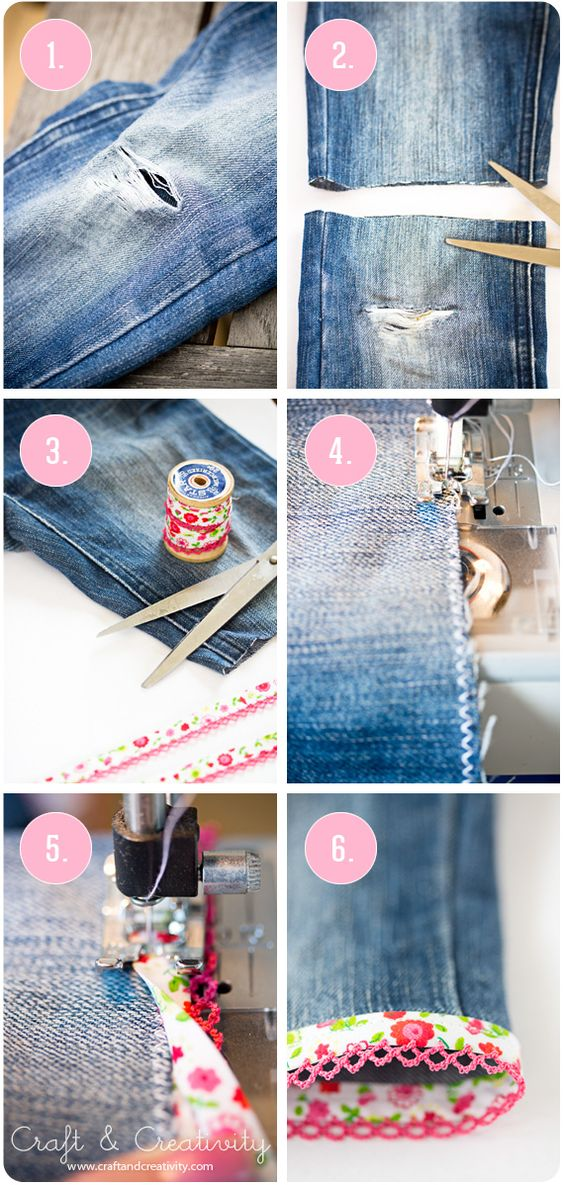 Upcycle Old Jeans into Cute Shorts Tutorials1