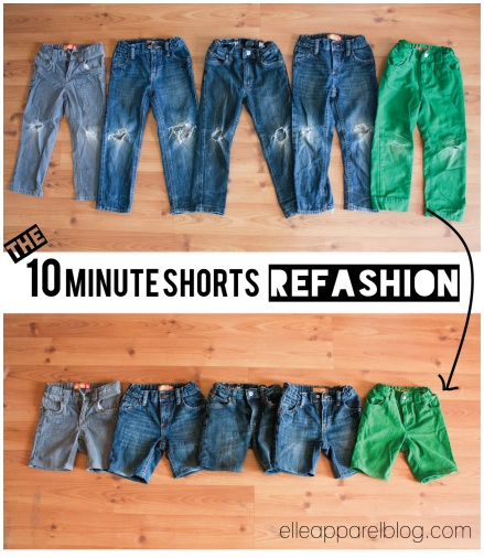 Upcycle Old Jeans into Cute Shorts Tutorials2