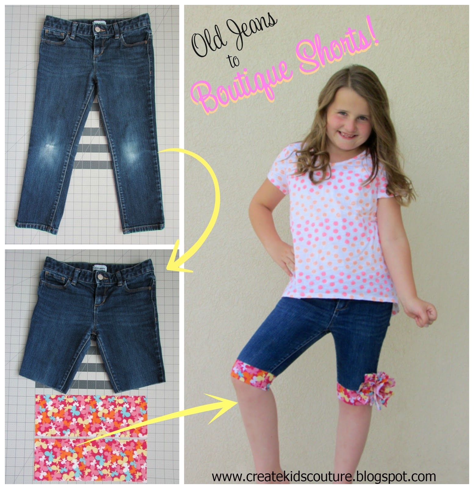 Upcycle Old Jeans into Cute Shorts Tutorials3