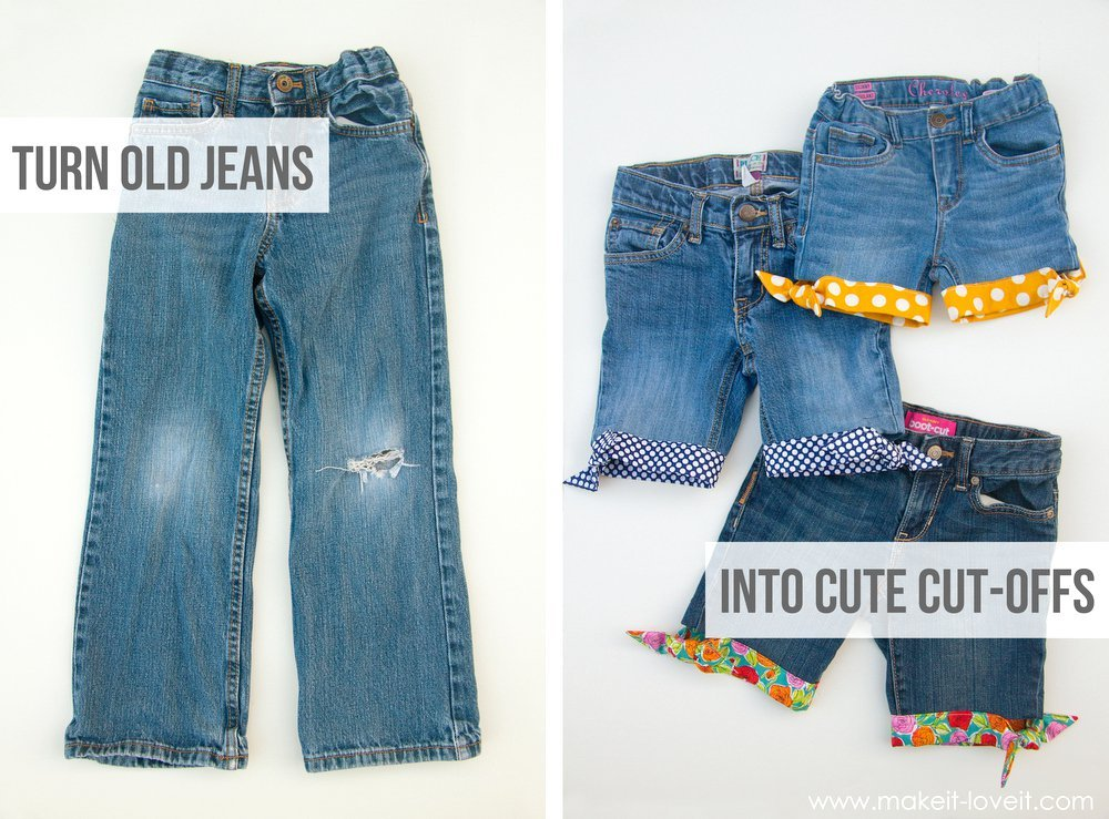 Upcycle Old Jeans into Cute Shorts Tutorials5