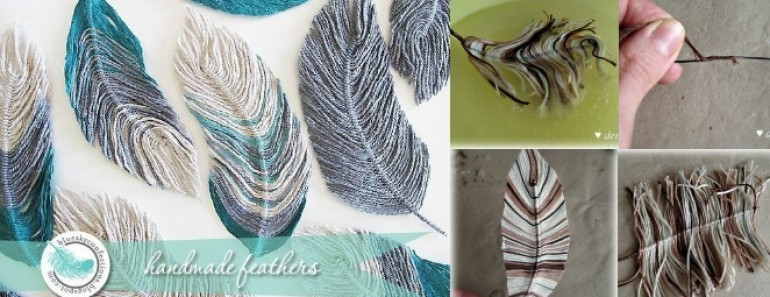 Handmade Yarn Feather DIY Tutorial