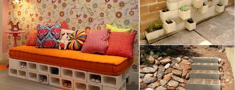 22 Creative Ideas to Use Concrete Blocks