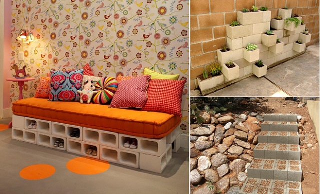 20 Creative Ideas to Use Concrete Blocks for Your Home-beesdiy