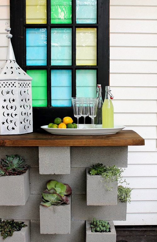 20 Creative Ideas to Use Concrete Blocks for Your Home23