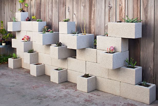 20 Creative Ideas to Use Concrete Blocks for Your Home4