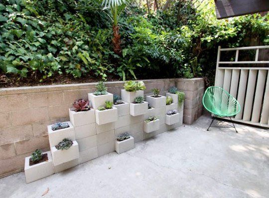 20 Creative Ideas to Use Concrete Blocks for Your Home5