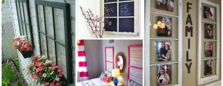 40 Awesome Ideas To Reuse Old Windows