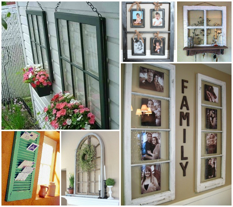 40 Awesome Ideas To Reuse Old Windows | BeesDIY.com