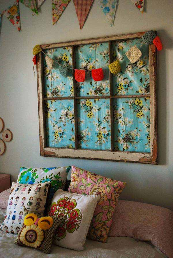 40 awesome ideas to Reuse Old Windows38