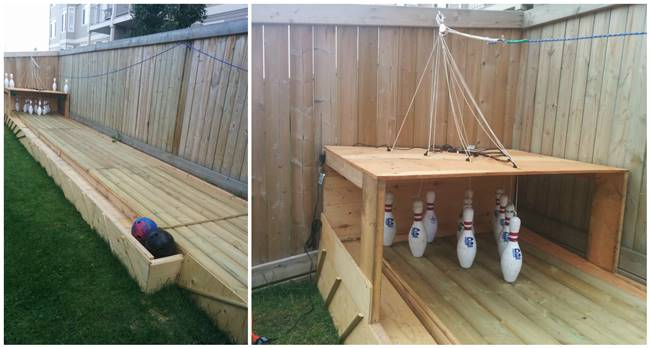 DIY Bowling Alley for backyard