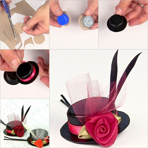 DIY hat hairclip out of plastic cap5