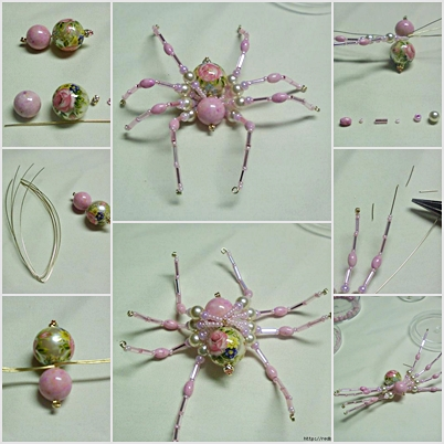 DIY Cute Beaded Spider 1