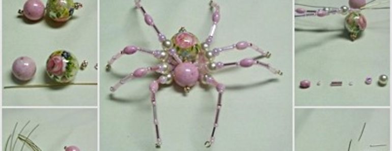 DIY Cute Beaded Spider for Halloween