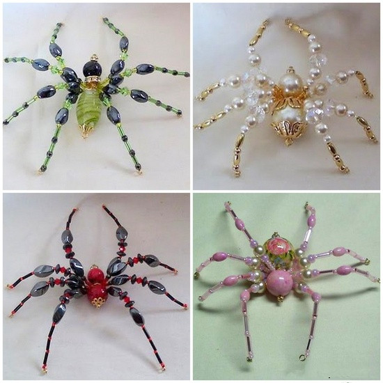 DIY Cute Beaded Spider