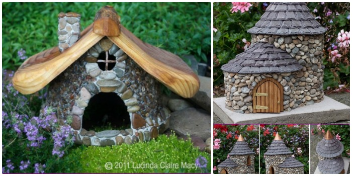 Diy stone fairy house