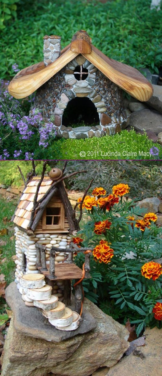 DIY Miniature Stone Fairy House1