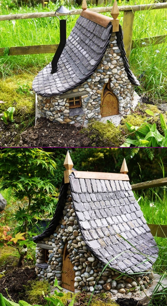 DIY Miniature Stone Fairy House4