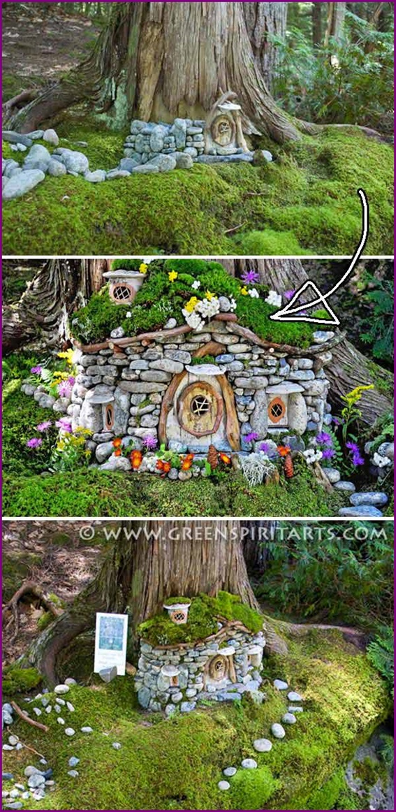 DIY Miniature Stone Fairy House5