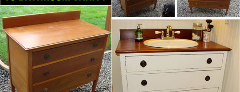 How to Turn Old Dresser into DIY Vanity
