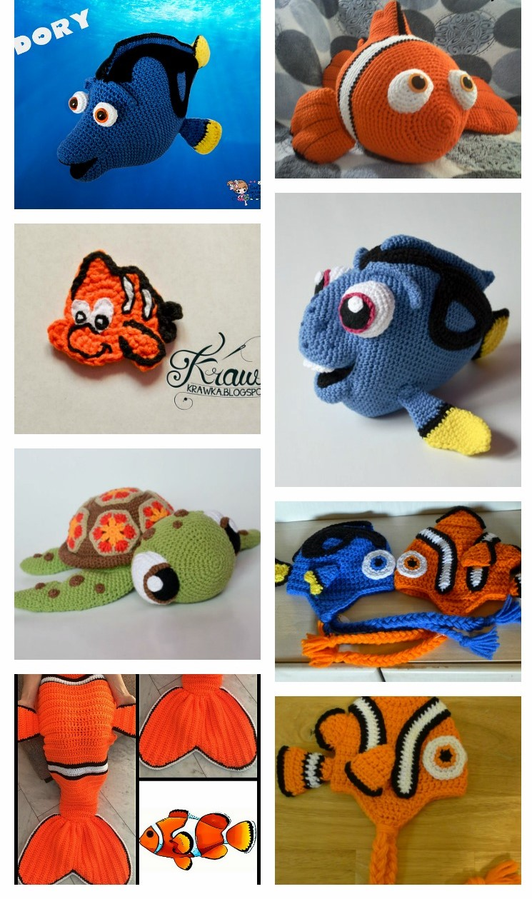 How to Crochet Clown Fish PART #1- Crochet Nemo from Finding NEMO ... | 1259x745