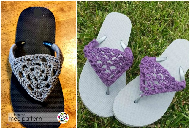 Crochet Slippers Free Pattern With Flip Flop Soles Beesdiycom